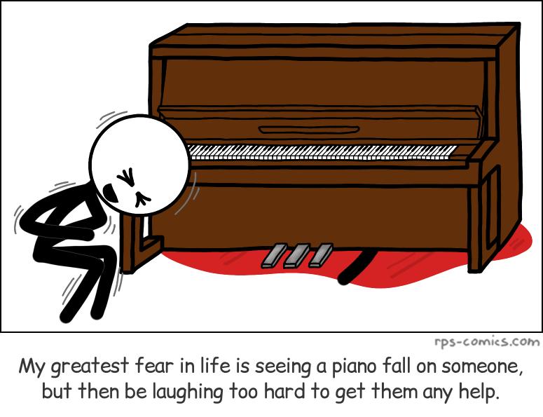 Piano Falling on Someone